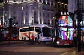 Buses at the Piccadilly Circus