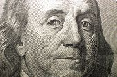 Portrait Image Of $100 Us Dollars