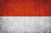 Abstract Mosaic Flag of Monaco