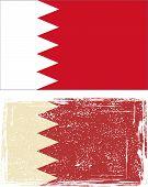 Bahrain grunge flag. Vector illustration.