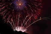 foto of firework display  - Beautiful Fireworks display in the night sky - JPG