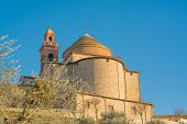 stock photo of lagos  - Castiglione del Lago and its cathedral in the highest peak of the country - JPG