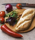 image of tomato sandwich  - Sandwich with tomatoes - JPG