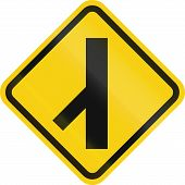 pic of merge  - Colombian road warning sign - JPG