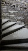 picture of stepping stones  - stone steps of the spiral staircase to the top - JPG