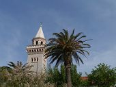 stock photo of mary  - The parish church of the immaculate conception of the blessed Virgin Mary is a church in late baroque style in Kastel Stafilic in Croatia - JPG