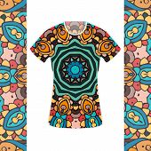 image of ottoman  - Hand drawn abstract background ornament illustration concept - JPG