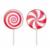 stock photo of lollipop  - Round Spiral Candy Lollipop - JPG