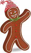 picture of gingerbread man  - Santa Gingerbread man  - JPG
