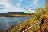 foto of taimyr  - The river and its surroundings at the end of the summer - JPG