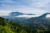 pic of himachal pradesh  - Clouds rolling between the hills of himachal pradesh in India - JPG