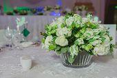 foto of wedding table decor  - Wedding table decoration - JPG