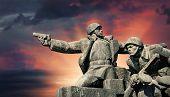 picture of ww2  - Soviet era WW2 memorial in Kiev Ukraine - JPG