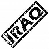 stock photo of iraq  - Vector rubber stamp with name IRAQ - JPG