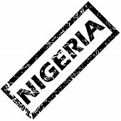 stock photo of nigeria  - Vector rubber stamp with name NIGERIA - JPG
