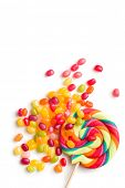 foto of jelly beans  - the jelly beans and lollipop - JPG