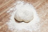 pic of sprinkling  - Sprinkle flour on dough - JPG