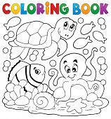 pic of aquatic animal  - Coloring book with sea animals 5  - JPG