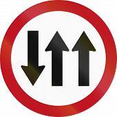 foto of traffic rules  - Regulatory road sign in Colombia - JPG