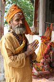 Holy Sadhu Offering Prayers