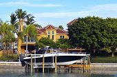 Luxury tropical home and boats