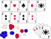 Cards: Aces, 2s And Poker Chips
