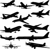 airplane collection 1 - vector