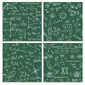 Education. Seamless Vector Backgrounds