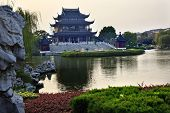 pic of ares  - Ancient Chinese Hall of Four Auspicious Merits and Hall of Attractive Scenery Pan Men Scenic Ares Suzhou Jiangsu China Garden Lake Reflection  Resubmit - JPG