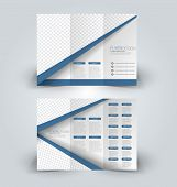 Brochure Design Template. Abstract Background. For Business, Education, Advertisement. Trifold Bookl poster