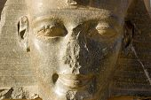 Granite face of Pharaoh Ramses II