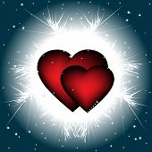 Two ardent  hearts