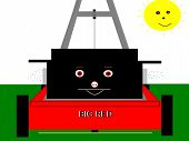Lawnmower Cartoon Character
