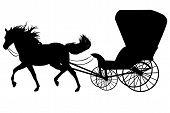 caballo con carro