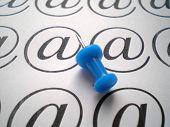 Close Up Of Shtrudel Symbol And Blue Pin