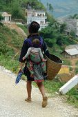 Black Hmong With Baby