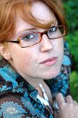 Beautiful Young Woman With Glasses