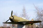 avión un monoplano de combatiente. La-7