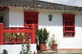 Spanish style farm house