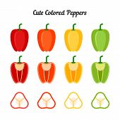 Постер, плакат: Nice set of peppers