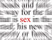 stock photo of fornication  - blurred text with a focus on sex - JPG