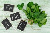 Spinach Rich In Vitamin C, A, Manganese And Iron poster