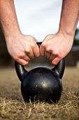 Lifting Kettlebell