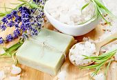 Herbal Soap, Sea Salt and Lavender Flowers