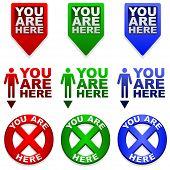 Você está aqui mapear marcadores