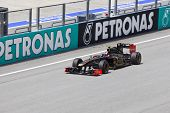 Sepang, Malaysia - April 8: Vitaly Petrov (team Lotus Renault) At First Practice On Formula 1 Gp, Ap