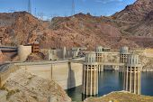 Lake Mead At Hoover Dam Panorama