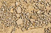 Sharp Image Of Mashed Stone
