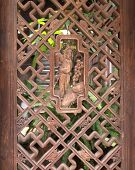 Old Chinese Wooden Lattice Window