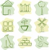 Countryside (icons), vector illustration